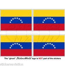 VENEZUELA Civil Flag (8 star, Hugo Chavez) Venezuelan 50mm Stickers, Decals x4