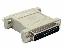 DB25 (RS2-232) Male to Female Serial Data Transfer Null Modem Gender Changer