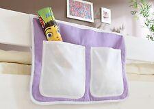 Pochette de rangement pour lit à étage et lit mezzanine Mauve-Beige