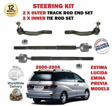 FOR TOYOTA ESTIMA LUCIDA EMINA 1999-  2x OUTER & 2x INNER TRACK RACK TIE ROD END