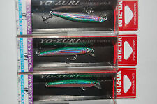 "3 lures yo zuri pins pin's minnow f196-m99  2"" 1/16oz rainbow trout"