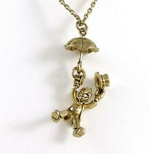 "NECKLACE 24"" PINOCCHIO 3D JIMINI CRICKET & CRYSTAL Chain by DISNEY Couture"