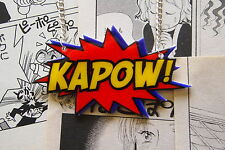 Kapow Collar-Rockabilly Vintage Años 50 Pin Up Comic Book Anime Super Hero