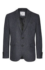 MOLLOY & SONS DONEGAL WOOL BLAZER GENUINE BUTTON JACKET GREY MIX SMALL S BNWT