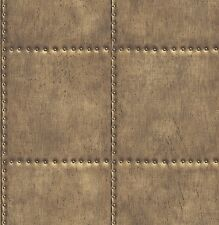 Sheet Metal Look Wallpaper Gold