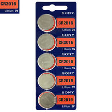 5 x SONY Lithium CR2016 batteries 3V Coin Cell DL2016 ERC2016 BR2016 EXP:2025