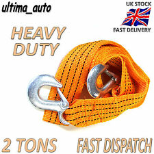 2 TONNE 2T 3.5M Tow Towing Pull Rope Strap Heavy Duty Road Recovery Car Van 4x4