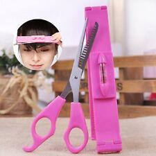 Ponyhilfe Schere Frisur Haar Ponyschneider Klammer Hair Tool Bangs Cut Kit Waage