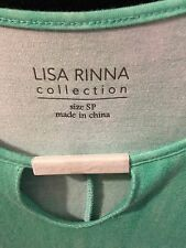 ~New~Lisa Rinna Collection Mint Stylish Knit Top Neckline Detail SP LOOKS MORE L