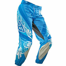 "Fly Racing KINETIC WOMENS LADIES motocross pants sz 7/8 or 34"" waist blue NEW"