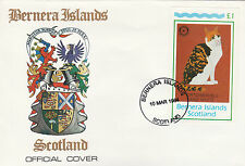 GB Locals - Bernera (2349) Rotary - Cats souvenir sheet on First Day Cover