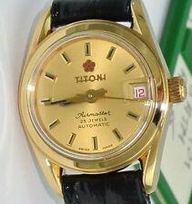 TITONI Airmaster Damen-Armbanduhr / Automatik / Lederarmband