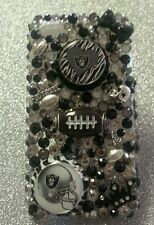 Oakland Raiders NFL bling case 4 iPhone 4s,5,5s,5c,6,Samsung Galaxy S3,S4&S5