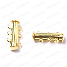 10Sets Silver/Gold 3row Plated Powerful Magnet Clasps Findings
