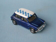 Matchbox 1964 Austin Mini Cooper S with Blue Body Checkered Roof Toy Model Car