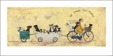 SAM TOFT (THE DOGGIE TAXI SERVICIO) Gato No: PPR41142 ARTE ESTAMPADO 50 x 100cm