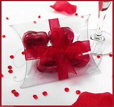 20 x Favour Clear Plastic PVC Box Wedding, candy, Packaging Gift Pillow