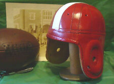 1940 Alabama Red style  Leather Football Helmet Red  with white strap