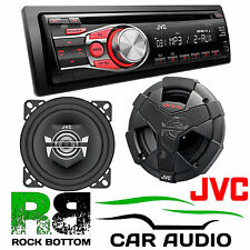 "JVC CD MP3 CAR STEREO & 4"" 10 cm 2 Way 400 Watts Car Door & Van Coaxial Speakers"