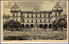 Brandeis Brandýs nad Orlicí Tschechien Postkarte ~1950/60 altes Gebäude Park