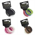 12 Satin Finish Snag Free Endless Hair Elastics Bobbles Hair Bands Accessories