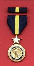 US Navy and USMC Marine Corps Distinguished Service medal with ribbon bar DSM
