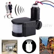 110-220V LED Outdoor Infrared PIR Motion Sensor Detector Light Lamp Switch 180°