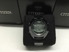 SS Black Citizen Independent 1481010 D295 L16819 Digital LCD watch uhr MOT