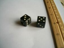 "1 pair,Water Buffalo Horn Dice, Black, 5/8""x5/8""(15x15mm)"