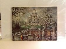 "Painting Reproduction Montmartre Sacred Heart Church  14"" WC 10"" H"