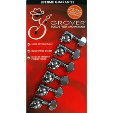 Grover 406C6 Mini Rotomatic Locking 18:1 Guitar Machine Heads - 6 In-Line CHROME