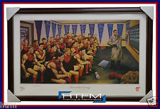 Melbourne Team of the Century L/E Print Framed Signed by Jamie Cooper BARASSI