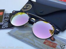 NEW Authentic RAYBAN CLUBROUND Pink Cooper Gradient Flash/Tortoise RB4346 990/Z2