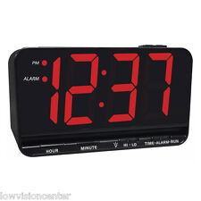 "Extra Large 3"" Display Electric LED Alarm Clock, Low Vision Macular Degeneration"