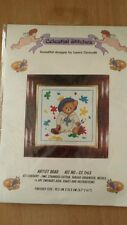"Celestial Stitches ""ARTIST BEAR""  Cross Stitch Kit  6.1""×6.1"" size"