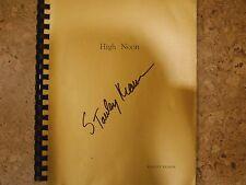 """""""High Noon"""" script signed by Stanley Kramer"""