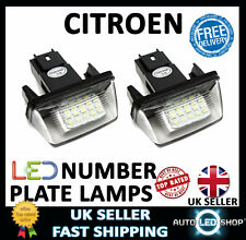 CITROEN XSARA 18 LED WHITE NUMBER PLATE LIGHT LAMP UPGRADE BULBS XENON