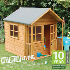 NEW 5x5 5x5FT 5 x 5 CHILDRENS CHILDS WOODEN GARDEN PLAYHOUSE WENDY PLAY HOUSE