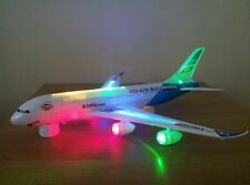 LARGE AEROPLANE AIRBUS BUMP AND GO 360 SPIN ACTION - FLASHING LIGHTS  42CM