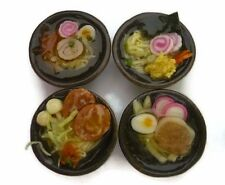 Set of 4 Bowl of  Ramen Noodles Dollhouse Miniatures Japan Food Supply Deco- 4