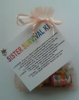 SISTER Survival Kit - Unusual Fun Novelty - Thank you Gift - Birthday Present