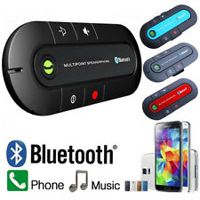 BLACK Magnetic Bluetooth Hands free In Car Wireless Speaker Phone Kit Visor Clip