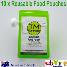 10 x TM Essentials 200 ml Reusable Food Pouch for Thermomix TM31 baby puree
