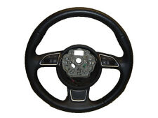 *AUDI A6 C7 11-ON 3 SPOKE BLACK LEATHER MULTIFUNCTION STEERING WHEEL 4G0419091R