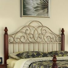 Home Styles St. Ives Spindle Headboard Cherry and Gold-King Size