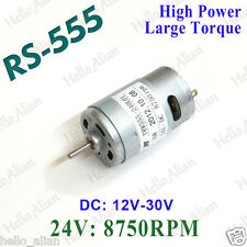 DC 12V-30V 24V High Power Torque RS-555 DC Motor for Drill Electric Tools Hobby