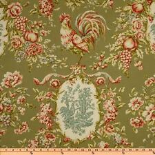 Waverly Rendezvous Sorrel Rooster Toile Fabric BTY