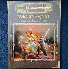 Épée & poing un guide pour les combattants & moines donjons & dragons d&d rpg D20 wotc