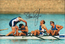Steve REDGRAVE 12x8 Signed Photo Autograph AFTAL COA Olympic GBR Sydney 2000