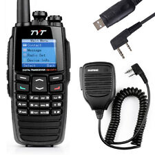 TYT 256CH DM-UVF10 DTMF Transceiver Digital VHF/UHF Ham Radio+Program Cable+Mic